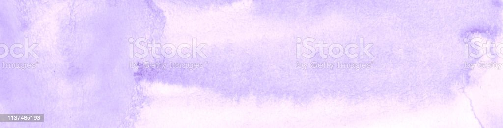 Lilac pastel watercolor frame with torn strokes and stripes. Abstract...