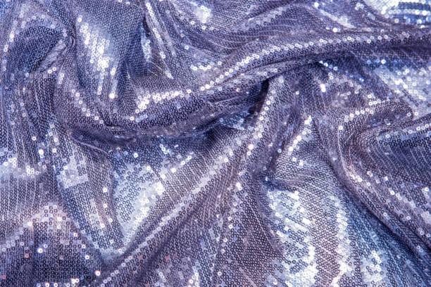 ライラック、紫、紫、青のスパンコール - 輝くスパンコール繊維 - glitter curtain ストックフォトと画像