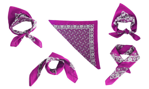 lilac, violet, purple, manzhenta scarf, bandanna, pattern, isolated stock photo