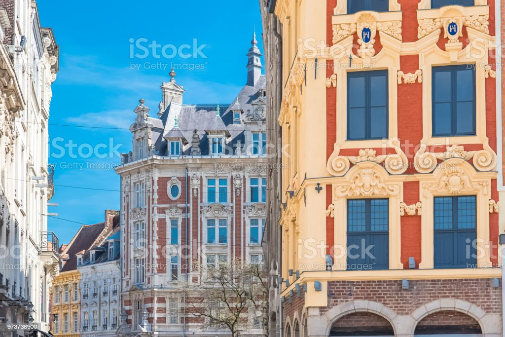Lille, former facades stock photo