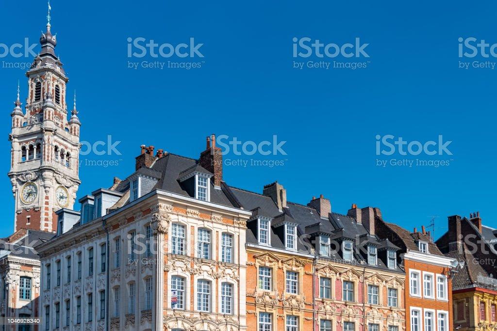 Lille, old facades stock photo
