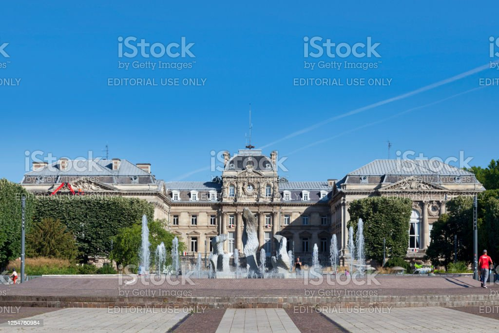 Lille Palace of Fine Arts Lille, France - June 23 2020: The Lille Palace of Fine Arts (French: Palais des Beaux Arts) is a large museum with a respected collection of European art from ancient times to the modern period. Architecture Stock Photo