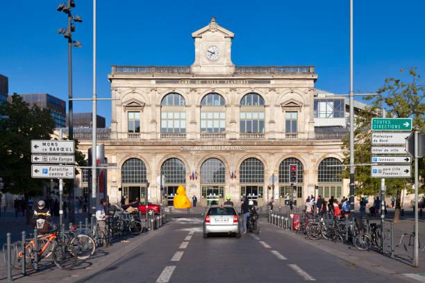 Lille-Flandres station stock photo