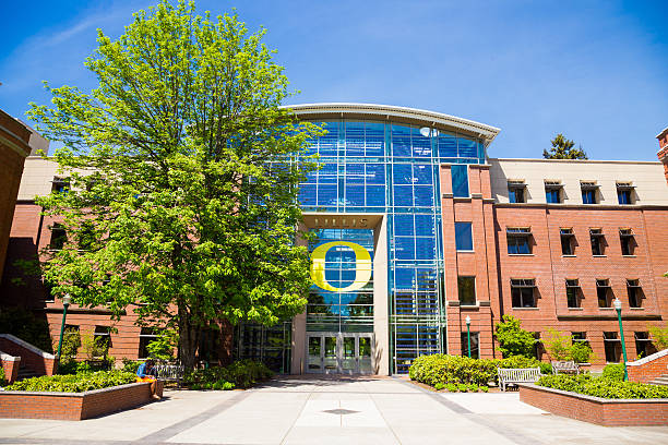 Lillis Business School at University of Oregon stock photo