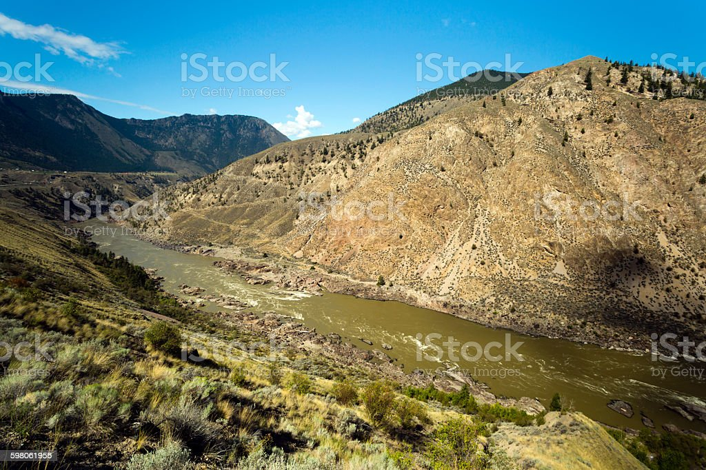 Lillooet British Columbia Canada Fraser River stock photo