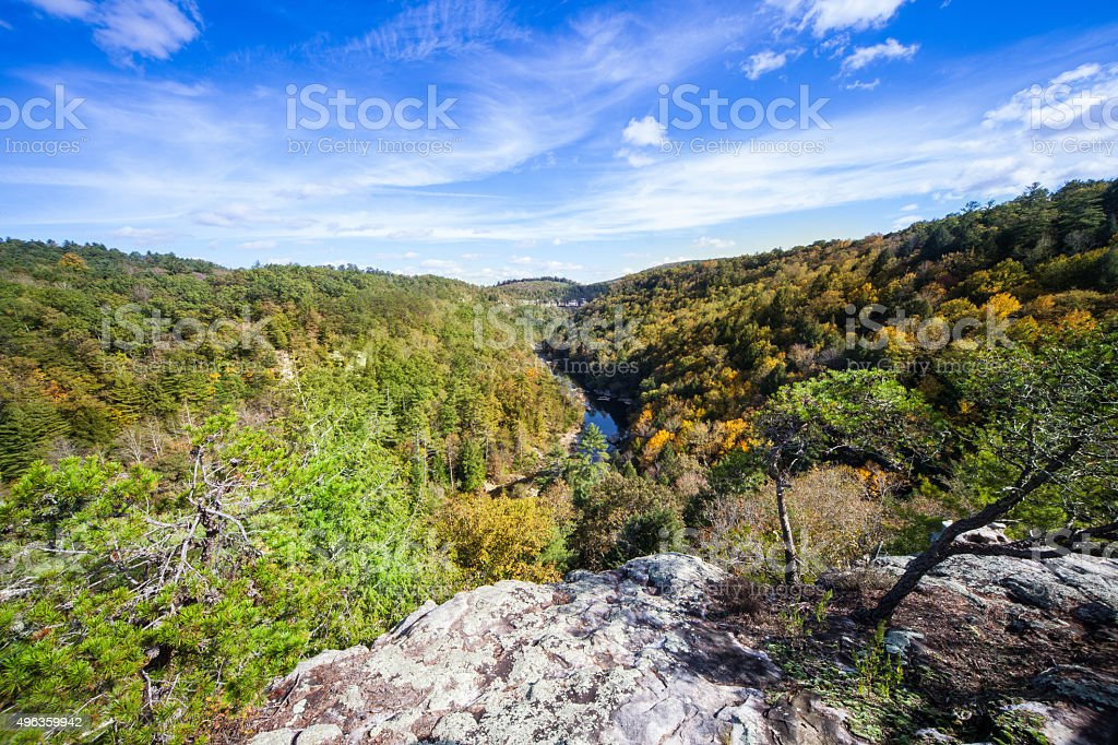Lilly Bluff Overlook at Obed Wild and Scenic River stock photo