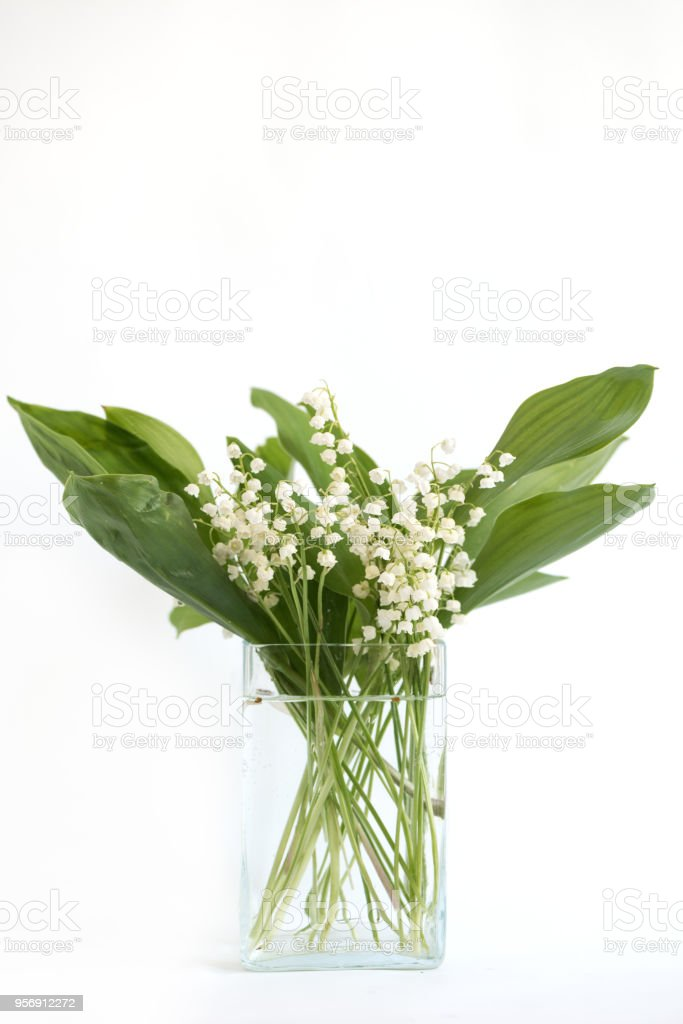 gift in a vase Lily of the Valley Glass flowers