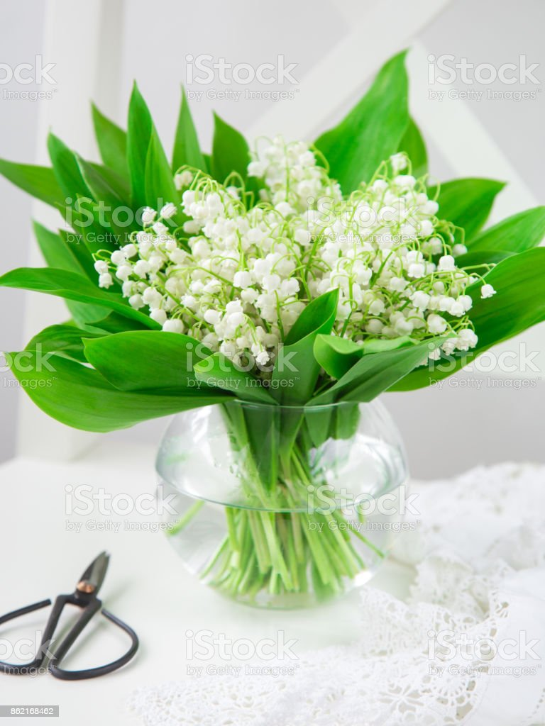 Lily of the valley flowers in vase stock photo istock lily of the valley flowers in vase royalty free stock photo izmirmasajfo
