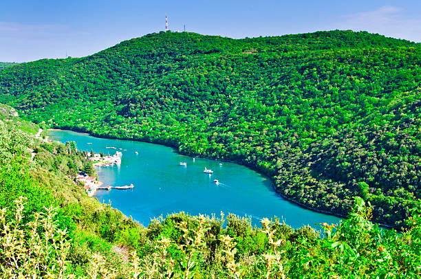 Lim Fjord, südlich von Poreč, Istrien, Kroatien – Foto