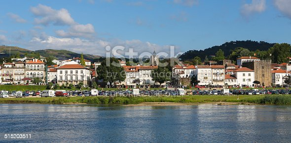 Ponte de Lima, Portugal - August 3, 2014: Unidentified people at the center of Ponte de Lima, a town in the Northern Minho region in Portugal.