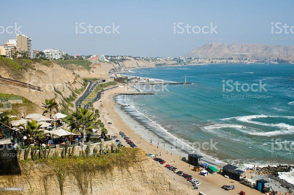 Lima coast royalty-free stock photo