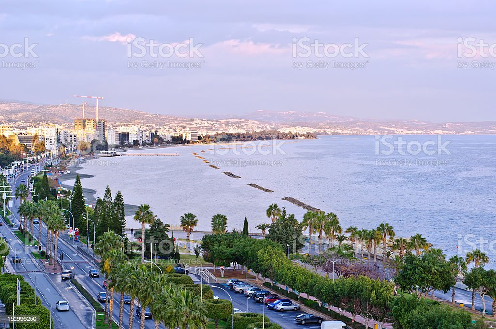 Limassol cityscape stock photo