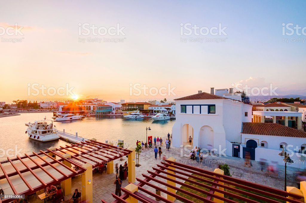 Limassol Marina, Cyprus stock photo