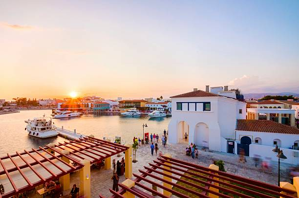лимассол марина, кипр - cyprus стоковые фото и изображения