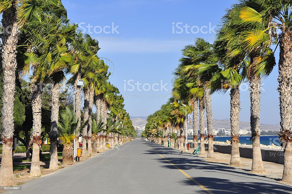 Limassol Promenade Alley stock photo