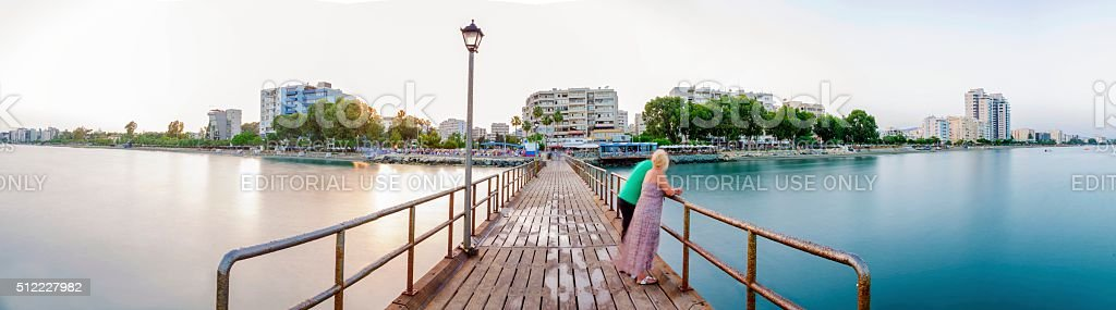 Limassol Skyline, Cyprus stock photo