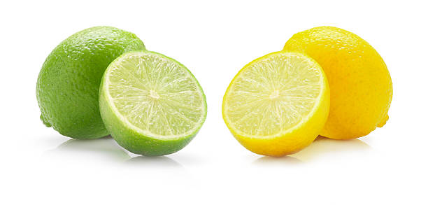 lime and lemon stock photo