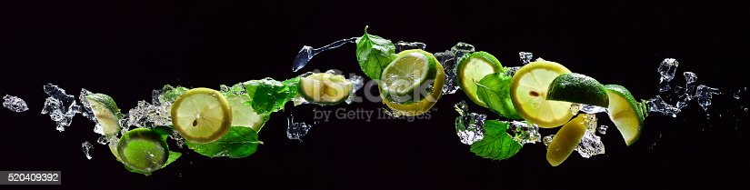 istock lime and lemon pieces with peppermint 520409392