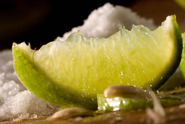 lime and salt stock photo