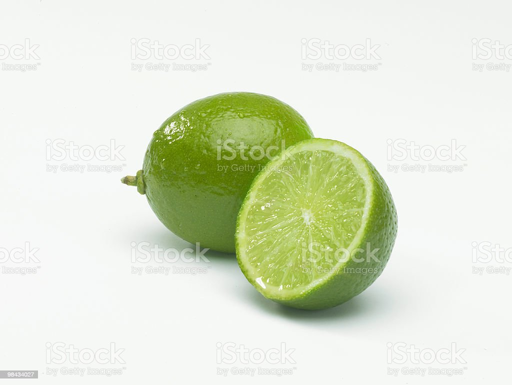 Lime and slice royalty-free stock photo