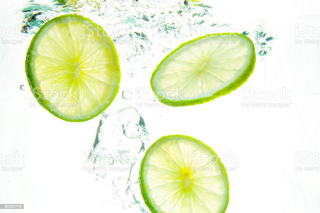 Lime & Bubbles royalty-free stock photo