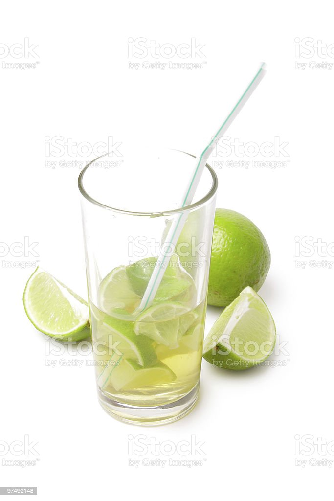 Lime coctail royalty-free stock photo