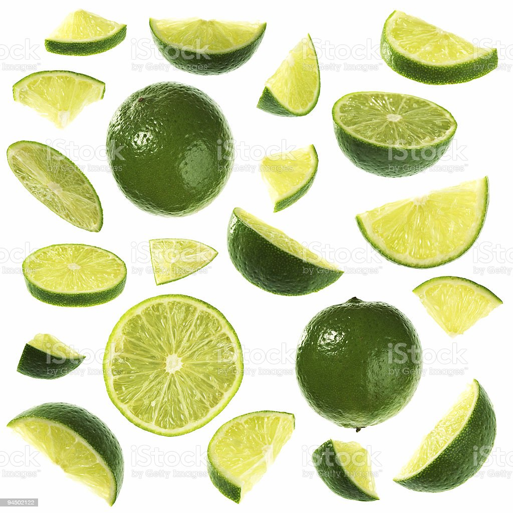Lime collection stock photo