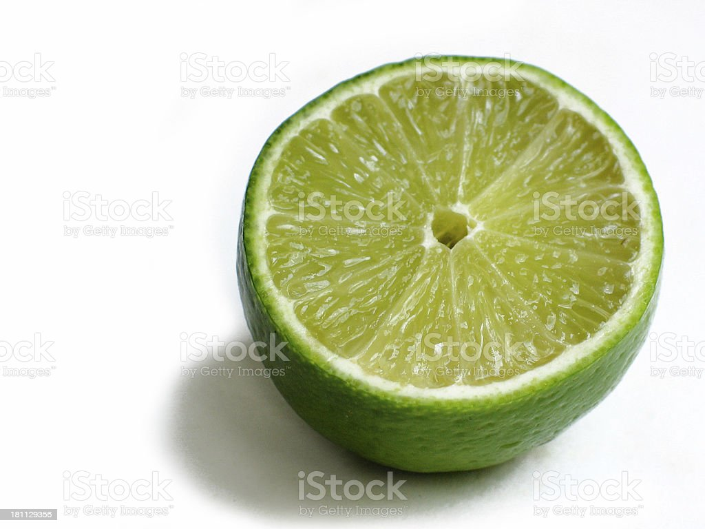 lime cross section royalty-free stock photo
