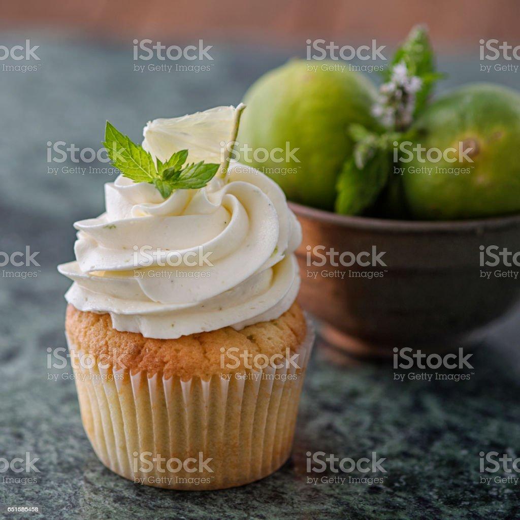 Lime Cupcake stock photo