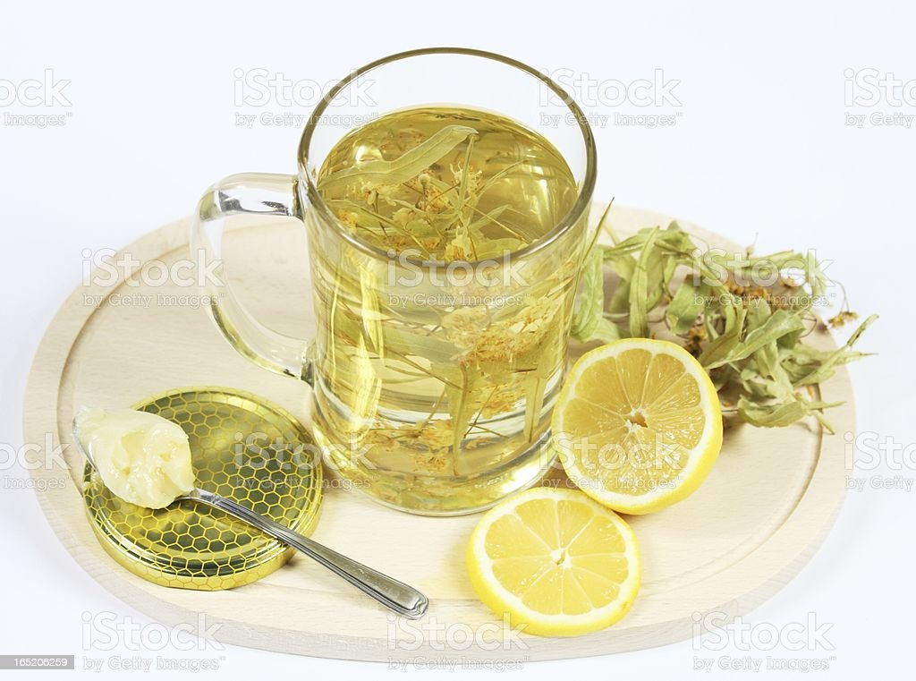Lime flower tea royalty-free stock photo