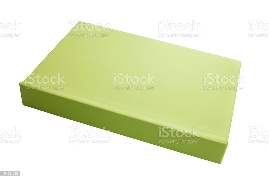 Lime green book/notebook royalty-free stock photo