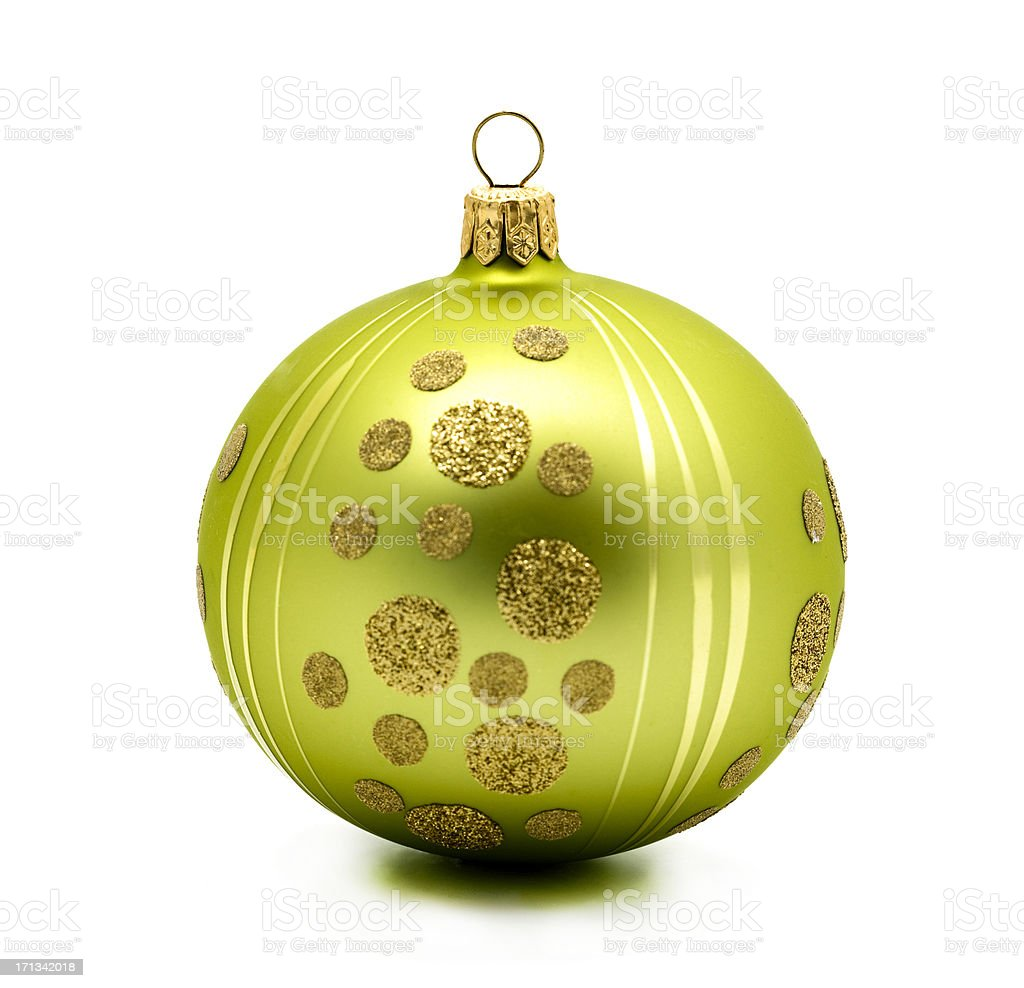 lime green christmas bauble royalty-free stock photo