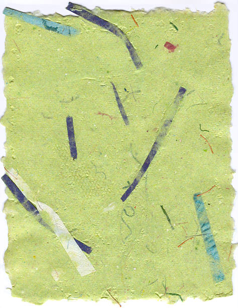 Lime Green Handmade Paper with Deckle stock photo