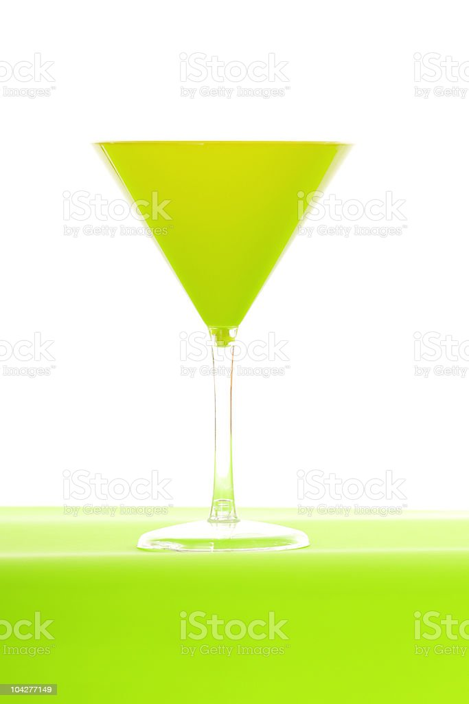 Lime green martini glass royalty-free stock photo