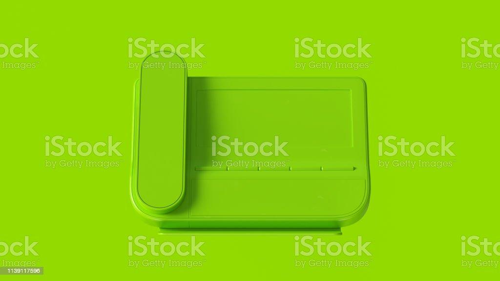 Lime Green Office Phone 3d illustration 3d render