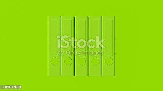 istock Lime Green Office Ring Binders 1139117670