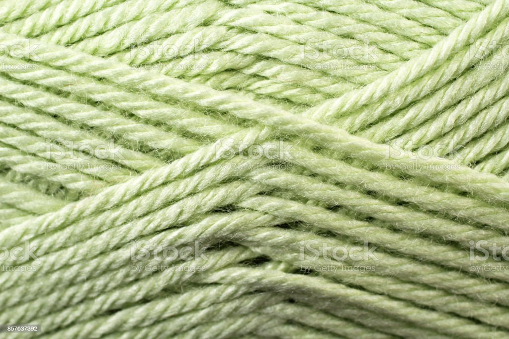 Lime Green Yarn Texture Close Up stock photo