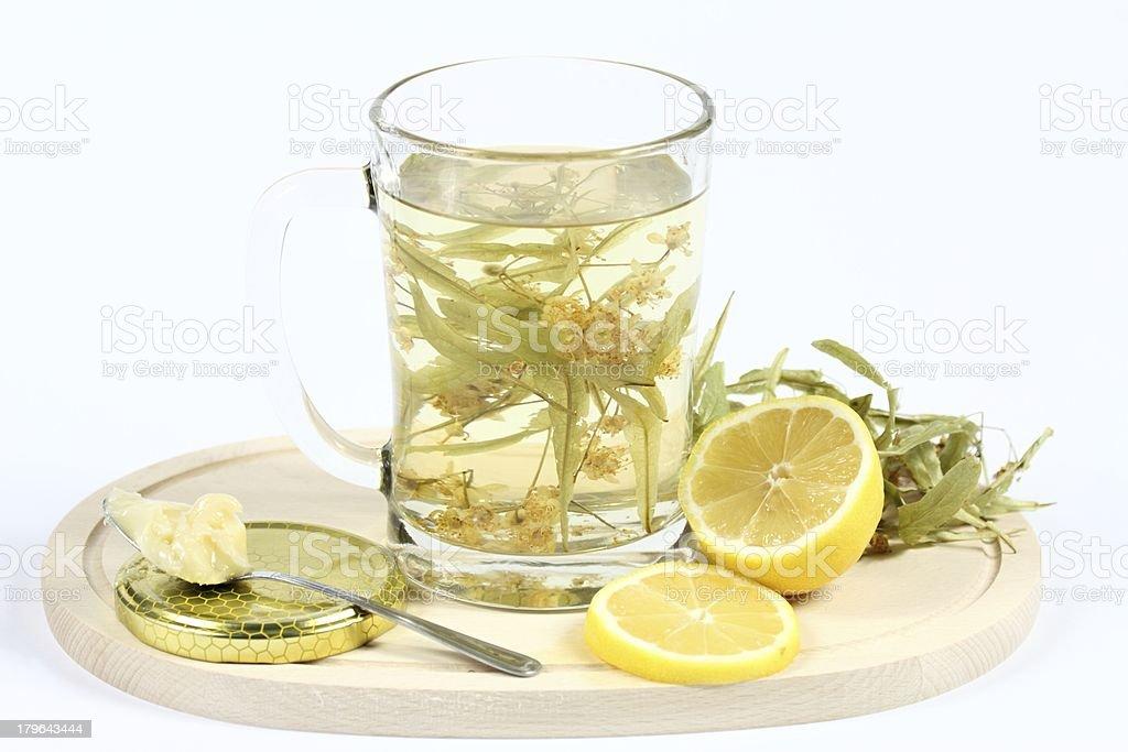 Lime herbal tea royalty-free stock photo