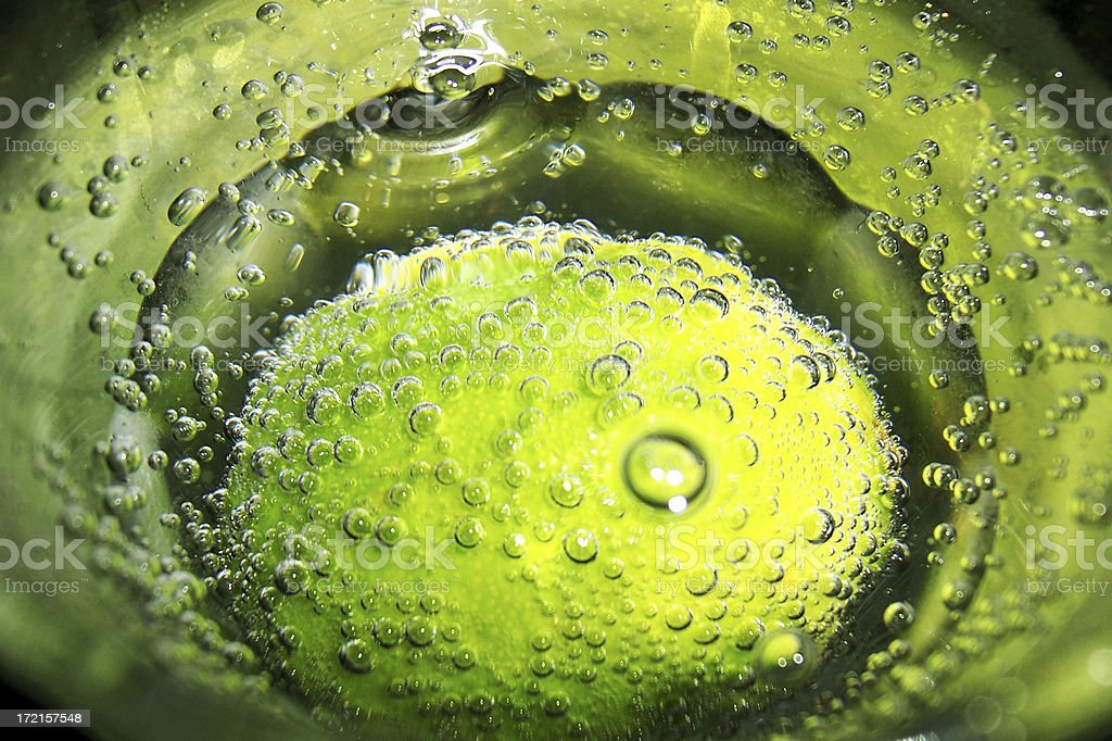 lime in bubbles royalty-free stock photo
