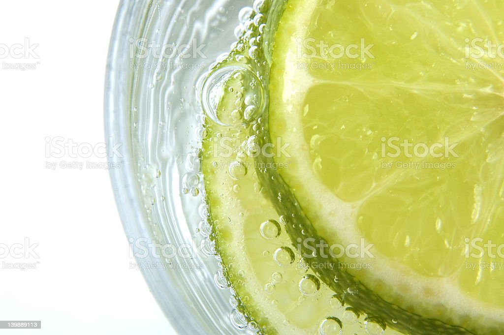 Lime in Soda royalty-free stock photo