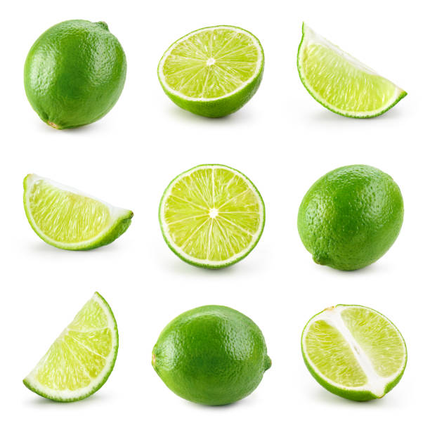 Lime isolated. Lime half, slice, piece isolate on white. Lime set. Lime isolated. Lime half, slice, piece isolate on white. Lime set. lime stock pictures, royalty-free photos & images