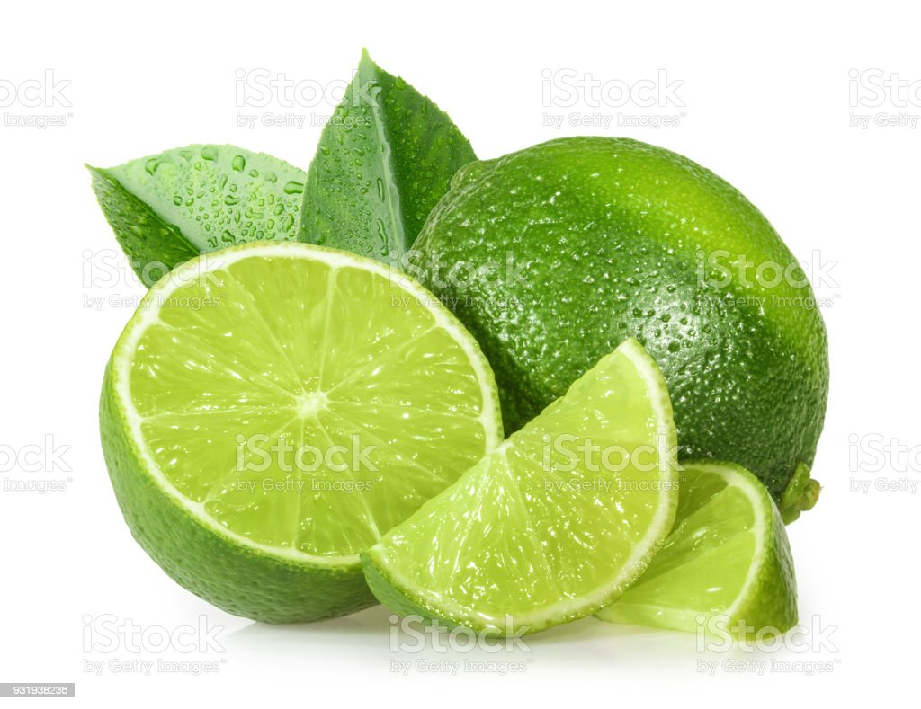 Lime isolated on white background - Foto stock royalty-free di Agrume