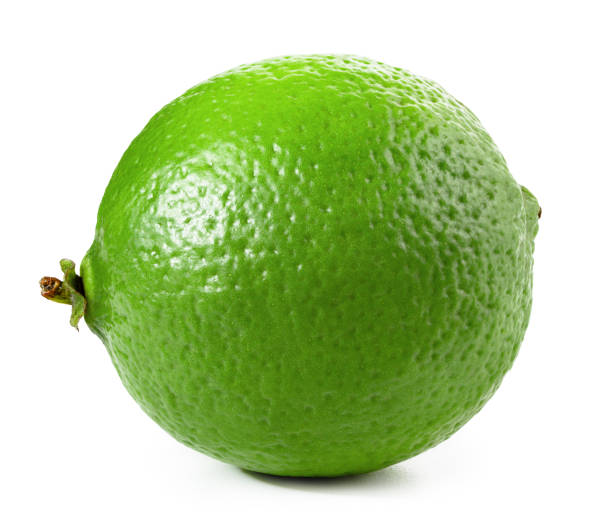 Lime isolated on white stock photo