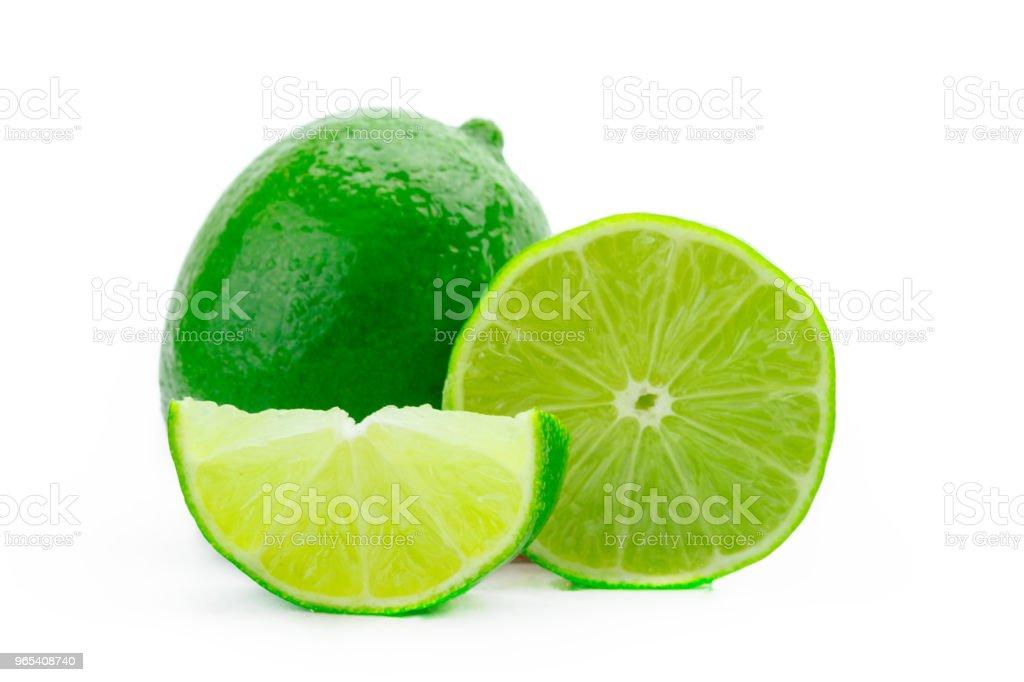 Lime isolated zbiór zdjęć royalty-free