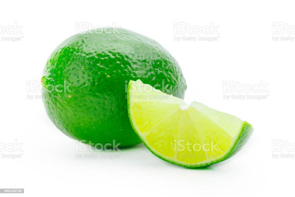 Citron vert isolé - Photo de Agrume libre de droits