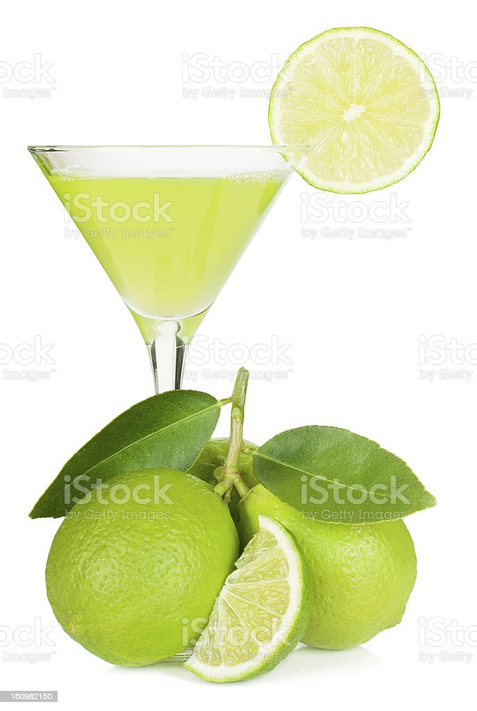 lime juice and limes stock photo