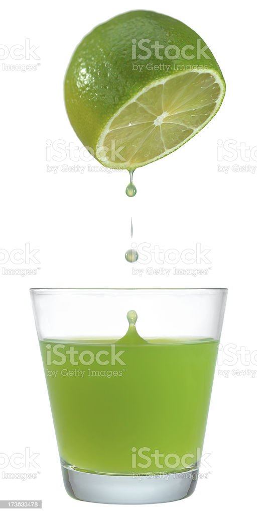 Lime juice. stock photo