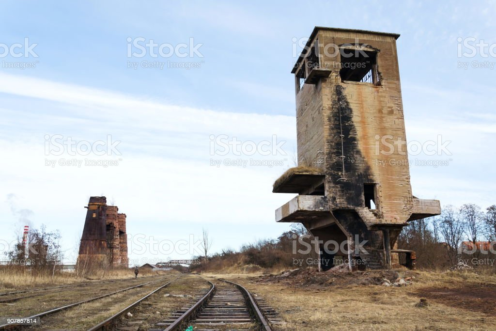 Lime kilns in Kladno, Czech Republic, National cultural monument stock photo