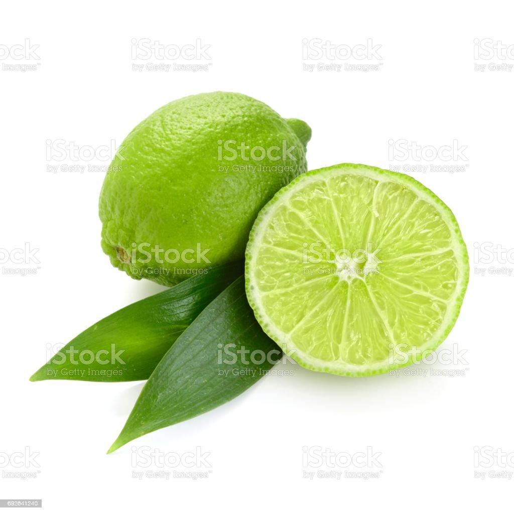 citron vert sur un fond blanc - Photo