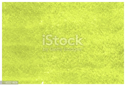 istock Lime Punch yellow green grunge aquarelle painted paper textured canvas for vintage design, invitation card, template. 1152221825